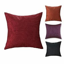 "18"" X 18"" Roses Floral Embroidery Burgundy Orange Purple Black Cushion Covers"