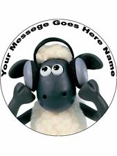 "Shaun The Sheep Cake  topper 7.5""  round(pre cut icing)"