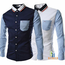 2014 New Fashion Men's Luxury Long Sleeve Casual Slim Fit Stylish Dress Shirts