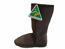 Australian Made Sheepskin Classic Tall UGG Boots Chocolate Colour Multi Size
