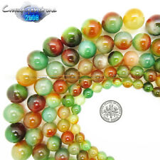 Wholesale 8mm 10mm 12mm 14mm 16mm Natural Round Multi-Color Agate Loose Beads