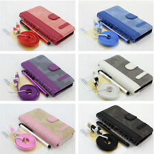 For BlackBerry Z10 Leather Flip Pouch Wallet Stand Case Cover Screen Protector