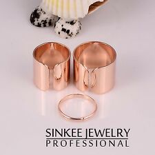 sinkee Golden Silver Tone Above Knuckle Punk midi brand ring for women JZ340