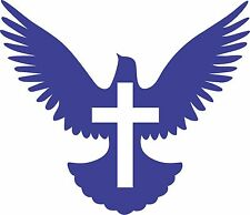 "Peace Dove Sticker, Christian Sticker,  Multiple Colors Available 6""  Sticker"