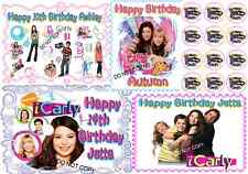 EDIBLE ICARLY CAKE IMAGE & CUPCAKES  BIRTHDAY PARTY ICING SHEET TOPPER