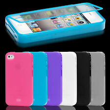Apple iPhone 4 / 4S Touch Case Slim Flip Tasche Schutz Hülle Cover TPU Silikon