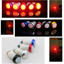 Bicycle Bike Handle Bar End Plug 2 mode Red Light LED Warning Safety Lamp 5 Type