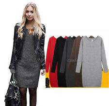 New Women Autumn/Winter Mirco Velvet Round Collar Woolen Thickening Dress Skirt