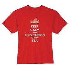 Licensed Downton Abbey Keep Calm and Ring Carson for Tea Shirt