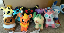 Pokemon Plush Collection - Your Choice of Eeveelution Plushes or Full Set of 8!