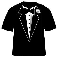 Kid's Tuxedo T Shirt (Funny Fancy Dress Party) Age 3 4 5 6 7 8 9 10 11 12 13
