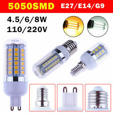 E27/E14/G9 SMD 5050 LED Corn Bulb w/Cover Light Lamp 110V 220V Warm / Cool White