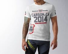 REEBOK CROSSFIT 2014 GAMES T-SHIRT - LIMITED EDITION - WHITE - S - XL