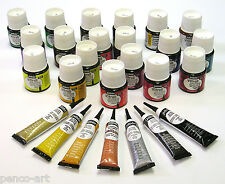 Pebeo Vitrail transparent glass paint 45ml bottle in 18 colours + Cern outliner