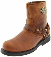 $154 NEW NIB Mens Harley Davidson Scout Brown Leather Motorcycle Biker Boots