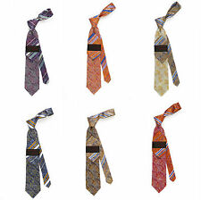 Steven Land The Big Knot High Density Tie Paisley/Stripe Design 100% Silk-HDS154