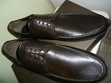 NIB BALLY Z-VIGASIO/01 MOKA LAMB NAPPA PLAIN SHOES SZ 10