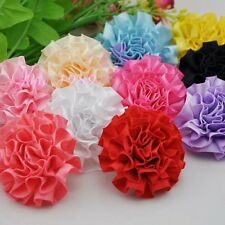 10pcs Ribbon Flowers Bows Carnation Appliques Craft Sewing Wedding Decor