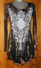 NWT VOCAL bling FLEUR SHIRT TUNIC TOP marble western S M L XL  embellished CROSS
