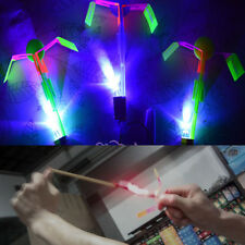 1/5/10/50X Led Light Arrow Rocket Helicopter Flying Toy Party Fun Gift Elastic