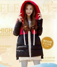 Winter pregnant women long sleeve jacket maternity chunky hoodies coat sweater