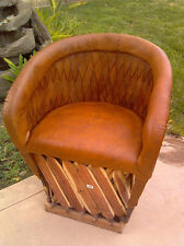 Equipale Woven Back Leather CUSHIONED Mexican Chair