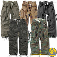 Surplus Vintage Fatigues Mens M65 Combat Cargo Trousers, Camo Army Military Work