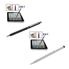 2-in-1 Metal Touch Screen Stylus with Ball Pen for iPad iPhone Samsung Ipad Ipod