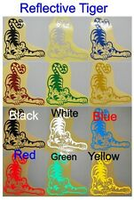 Reflective Tiger - Glossy Stickers For Car or Home Decal  #B - Single or Twin