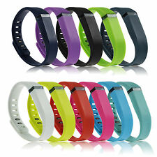 LARGE L Small Replacement Wrist Band &Clasp for Fitbit Flex Bracelet Multi Color