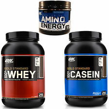 Gold Standard Whey-Casein, Essential Amino Energy Stack, Protein, Aminos, ON