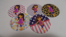 Pre Cut  One Inch Bottle Cap Images GROWN UP DORA FREE SHIP