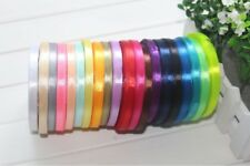 Satin Ribbon 6mm wide shiny 1/4 inch most demanding various colours & lengths