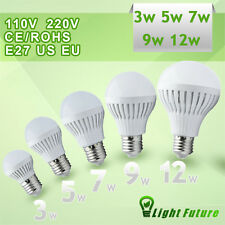 E27 110V 220V LED bulb 3W 5W 7W 9W 12W warm cool white light lamp energy saving