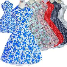 50s 60s Swing Vintage Polka Dot Prom Swing Pinup Retro Rockabilly Dress Cocktail