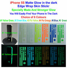 iPhone 5S - Matte Glow in the Dark Edge Wrap Skin Sticker - Choice of 6 Colours