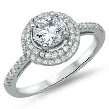 925 Sterling Silver Solitaire Engagement Ring with CZ