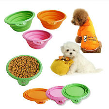 Neuf Gamelle Chien Chat Animal Bol Ecuelle Mangeoire Souple Pliable en Silicone