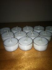 One Dozen Quality Soy Tea Lights Scented or Unscented 6-7 hour burn
