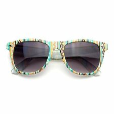 Retro Indie Fun Pattern Color Assorted Print Wayfarer Sunglasses
