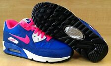 [345017-121] NIKE AIR MAX 90 2007 (GS) GRADE SCHOOL HYPER PINK / BLUE-WHT 4-7Y