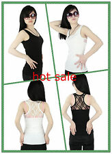 Womens Ladies Fashion Hollow-out Lace Sexy Sleeveless Cotton Vest Top Shirts