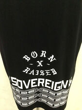 New Soverign Born X Raised black and white fonts swag street wear t-shirt M L XL