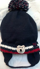 NEW BLUE WINTER KNIT FLEECE HAT 6 9 12 18 24 MONTHS BABY INFANT TODDLER BOYS