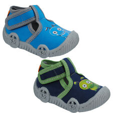 KK Kids Boys Caterpillar Print Breathable Canvas Velcro Sandals Slippers Shoes
