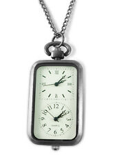 Engraved personalised two dial fob / pocket watch with chain & gift box ref LR46