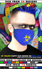GodEmperor Cyber Goth Rave Industrial Surgical Mask Choose design color Fabric