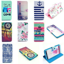Vintage Stand Flip Wallet Leather Soft Case Cover for Smart Cell Mobile Phones