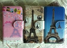 New eiffel tower Pu leather Whole cover case For Xiaomi ZTE Alcatel phones
