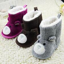 Toddler Infant Baby Boy Girl Yarn Snow Boots Bear Wool Crib Shoes Newborn to 18M
